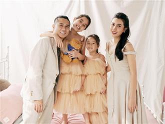 Lưu Hương Giang khoe ảnh gia đình hạnh phúc, nhan sắc 2 cô con gái lấn át cả bố mẹ