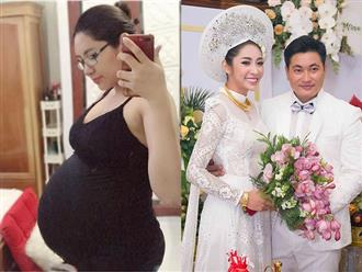 Mang thai đôi, Đặng Thu Thảo khoe bụng bầu lớn và tiết lộ 'rạn giống trái dưa lưới'