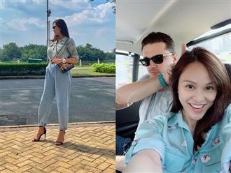 Sau 1 tuần sinh mổ, MC Phương Mai đã xuống phố cùng chồng và lập tức bị nhắc nhở