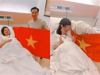 Vợ đi đẻ ngày U22 Việt Nam giành HCV SEA Games, MC Thành Trung 'quẩy' tại bệnh viện, sao Việt đua nhau đặt tên cho em bé