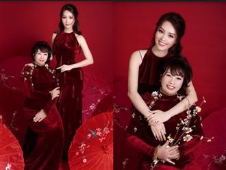 Mẹ Á hậu Thụy Vân lần đầu lộ diện bên con gái