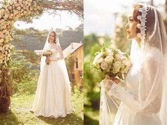 Minh Hằng gây sốt khi lộ ảnh mặc váy cưới xinh như tiên nữ, nghi sắp lên xe hoa