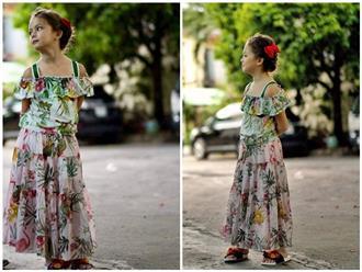 Mới 7 tuổi, con gái Hồng Nhung đã lộ nét mỹ nhân, gương mặt lai Tây xinh đẹp đầy cá tính