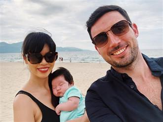 Mới chào đời hơn 1 tháng, con gái Hà Anh đã được cùng bố mẹ làm điều đặc biệt này