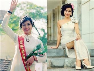 """Mối tình """"sét đánh"""" hóa cuộc hôn nhân viên mãn của Hoa hậu Việt Nam đầu tiên"""
