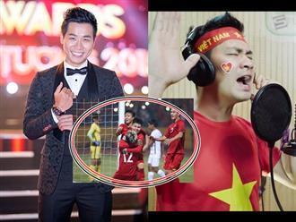 Xúc động với món quà 'có 1 không 2' các nghệ sĩ gửi đến đội tuyển Việt Nam trước trận chung kết lượt về AFF Cup 2018