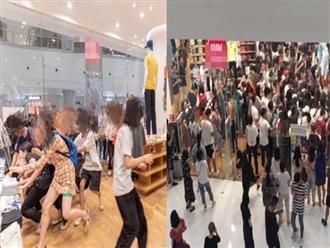 Hãi hùng clip người Trung Quốc 'cướp' quần áo sale, biển người xô đẩy như cuộc hỗn chiến