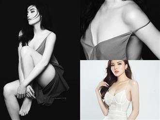 'Toát mồ hôi' khi xem Hoa hậu Kỳ Duyên diện váy dây 'quên nội y' hờ hững