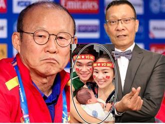 Muôn kiểu ăn mừng của sao: MC Lại Văn Sâm 'tỏ tình' với Park Hang Seo, Lê Phương ôm chồng con mừng chiến thắng