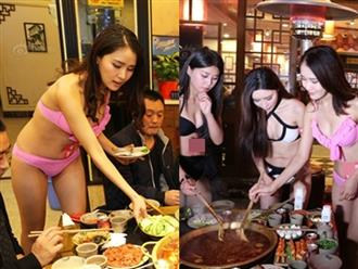 Gái xinh chơi bạo mặc bikini ăn lẩu, còn chạy đến từng bàn khiến thực khách nam muốn buông đũa