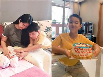Nằm nhà ở cữ, Lê Phương làm thơ mừng sinh nhật con trai Cà Pháo cực đáng yêu