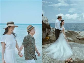 Trọn khoảnh khắc 'tình bể bình' của Thứ trưởng Bộ Tài chính và ca sĩ Đinh Hiền Anh trong bộ ảnh cưới lung linh