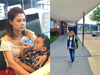 Ngày đầu đi học, con trai Thanh Thảo bị cô giáo không cho vào lớp vì lý do khó tin