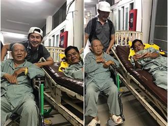 Nghệ sĩ Mạc Can ngồi xe lăn tới động viên Mai Trần trong bệnh viện