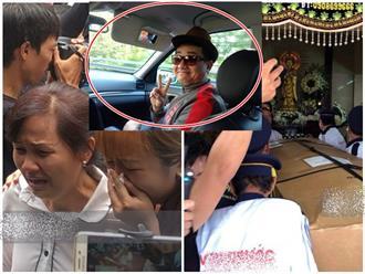 Nghệ sĩ Minh Nhí và gia đình khóc ngất khi linh cữu diễn viên Anh Vũ được đưa về tới chùa