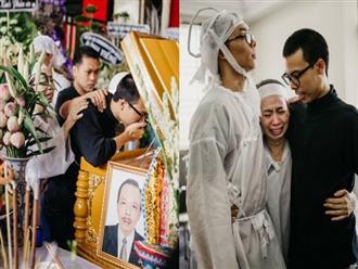 Nghẹn ngào giây phút con trai lớn của NSƯT Thanh Hoàng từ Mỹ về nhìn cha lần cuối trước giờ tiễn biệt