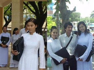 Ngọc Lan đăng ảnh diện áo dài nhân ngày tựu trường, cư dân mạng lại dòm ngó đến chi tiết cực hài khác