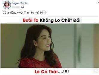 Ngọc Trinh bị chỉ trích vì phát ngôn kém sang: 'Bưởi to không lo chết đói'
