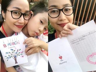 Nhận được món quà đáng yêu từ con trai 7 tuổi nhân ngày 8/3, Ốc Thanh Vân vỡ òa vì quá bất ngờ