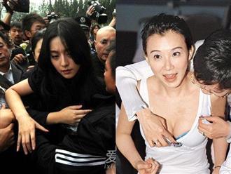 Những lần sao nữ bị quấy rối trước bàn dân thiên hạ: Dương Mịch bị ghì chặt vòng 1, Phạm Băng Băng liên tục bị sàm sỡ