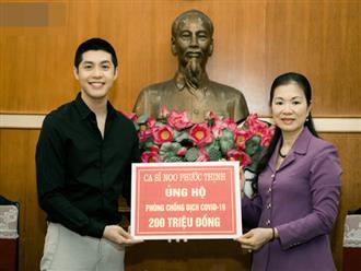 Noo Phước Thịnh trao 300 triệu đồng quyên góp phòng chống Covid-19 và hạn mặn miền Tây