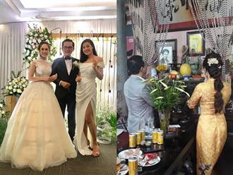 NSND Trung Hiếu tiếp tục làm lễ cưới với bà xã kém 19 tuổi ở Thái Bình