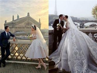 Ngất ngây với bộ ảnh cưới đẹp như mơ của Nữ hoàng Sắc đẹp Toàn cầu Ngọc Duyên và bạn trai đại gia lớn hơn 18 tuổi