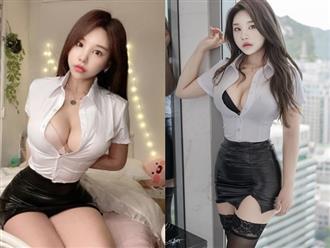 Gái xinh hóa 'cô nhân viên văn phòng nóng bỏng' khiến đồng nghiệp nam mất tập trung vì 3 vòng sexy