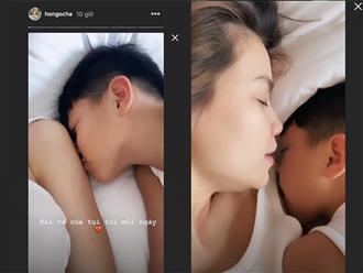 Ở nhà tránh dịch, Hà Hồ 'tan chảy' vì được con trai bày tỏ tình yêu thương mỗi sáng