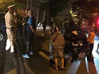 Ô tô diễn viên Anh Tuấn va chạm với xế hộp của cựu thủ môn Dương Hồng Sơn, biến dạng phần đầu
