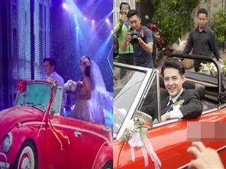 Góc ngỡ ngàng: Chiếc xe ô tô rước nàng dâu Đông Nhi đã được Ông Cao Thắng mang lên sân khấu từ... 5 năm trước?
