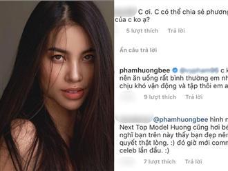 Phạm Hương tỏ thái độ căng thẳng khi fan hỏi bí quyết giảm cân