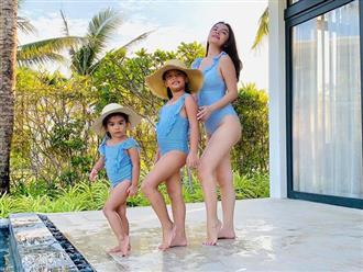 Phạm Quỳnh Anh diện bikini khoe body nuột nà ở tuổi U40, nhưng gây chú ý nhất là sự đáng yêu của 2 con