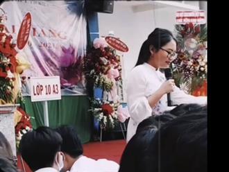 Phương Mỹ Chi xuất hiện nổi bật trong lễ khai giảng, xem thành tích học tập 12 năm học mà thấy choáng!