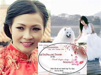 Phương Thanh khoe thiệp cưới ghi cụ thể ngày giờ 'lên xe hoa', quyết giấu tên ông xã tương lai