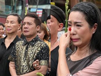 Phương Thanh, Minh Nhí rơi nước mắt giây phút tiễn đưa Anh Vũ
