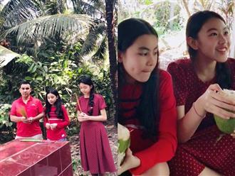 Quyền Linh tự hào kể về lời cầu nguyện của con gái lớn trước mộ ông bà trong năm mới