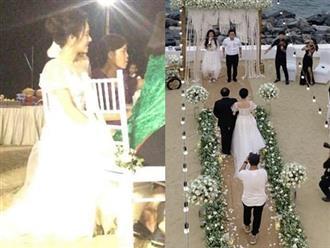 Cực nóng: Rò rỉ hình ảnh duy nhất của Nhã Phương ở lễ đính hôn với Trường Giang