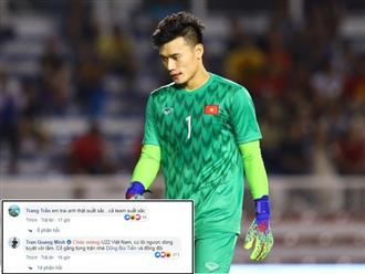 Sao Việt động viên Bùi Tiến Dũng sau sai lầm trong trận đấu với U22 Indonesia