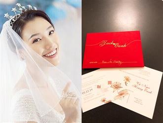 Vừa ăn cưới Đông Nhi xong, sao Việt 'kêu trời' vì nhận tiếp thiệp cưới của Á hậu Hoàng Oanh