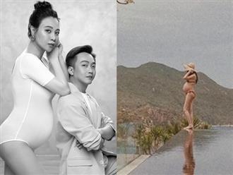 Vợ Cường Đô la khiến dân tình 'bỏng mắt' khi diện bikini bé xíu, khoe bụng bầu to đùng