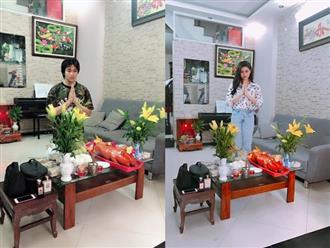 Sau ly hôn vẫn sống chung nhà, Tim và Trương Quỳnh Anh cùng nhau cúng Tổ nghề sân khấu