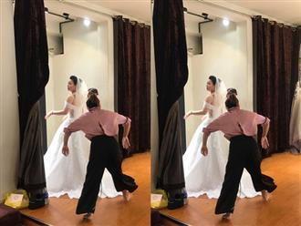 Sau nghi án ly hôn, rò rỉ ảnh được cho là Nhật Kim Anh đang bí mật đi thử váy cưới