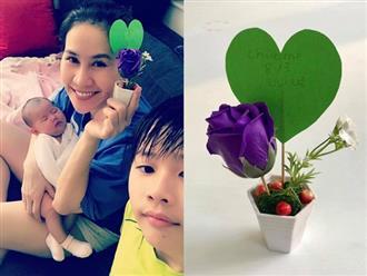 Sau thời gian sang Mỹ sinh con, Thân Thuý Hà hạnh phúc hội ngộ con trai ngày ngày 8/3