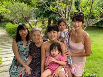 Siêu mẫu Hà Anh khoe ảnh 4 thế hệ phụ nữ trong gia đình, cụ ngoại bé Myla đã 92 tuổi mà vẫn rạng rỡ