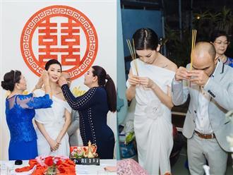 """Siêu mẫu Xuân Lan lần đầu tiết lộ hình ảnh trong lễ ăn hỏi bí mật, kể chuyện đám cưới """"chớp nhoáng"""" với ông xã Việt Kiều"""