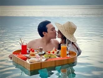 'Tan chảy' với khoảnh khắc Trấn Thành hôn môi bà xã Hari Won ngọt lịm