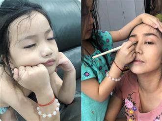 'Tan chảy' với khoảnh khắc điệu đà siêu đáng yêu của 'công chúa' nhà Ốc Thanh Vân