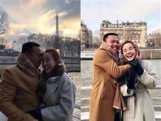 'Tan chảy' với khoảnh khắc Vy Oanh được chồng hơn 15 tuổi cưng nựng, ôm ấp trong vòng tay