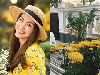 Tăng Thanh Hà khoe khéo biệt thự triệu đô ngập tràn sắc hoa đón Tết